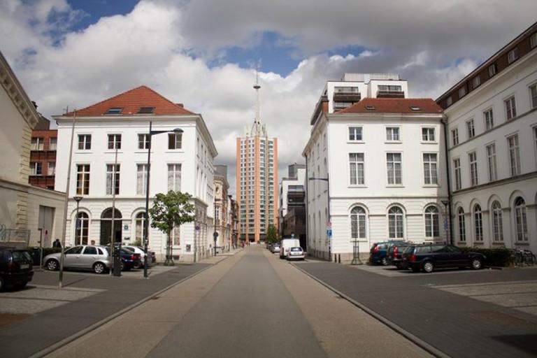 Neoclassicistische gebouwen op de Rijschoolstraat, Leuven