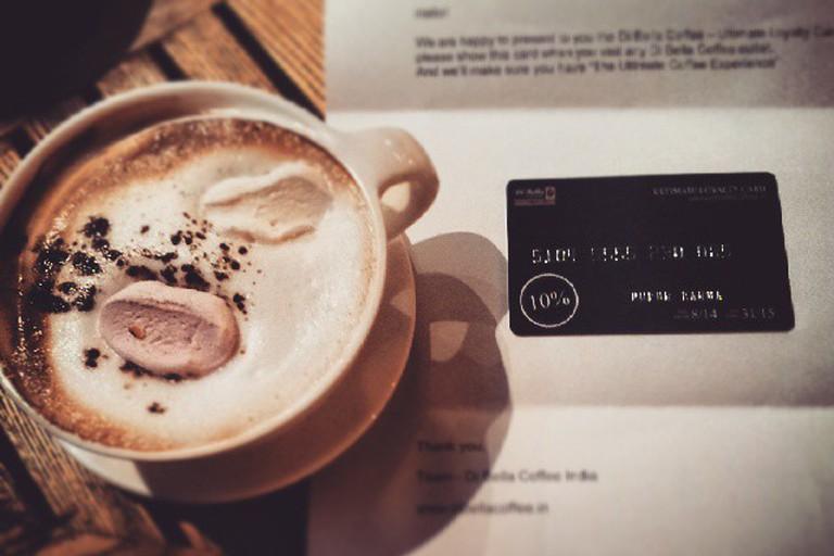Di Bella coffee and loyalty card