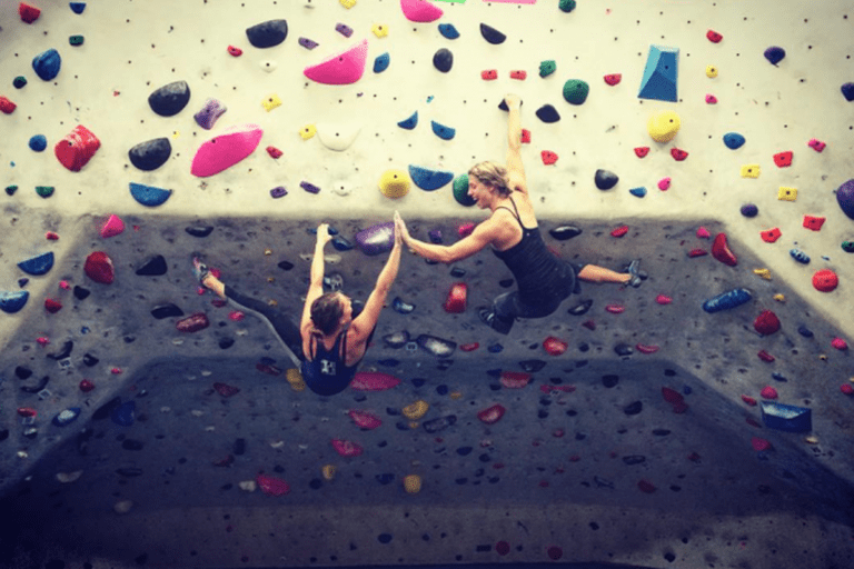 Climbing is more fun with friends