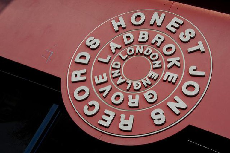 The Honest Jon's records sign in Ladbroke Grove