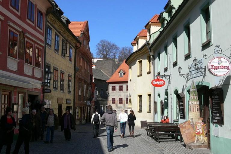 A typical Krumlov street