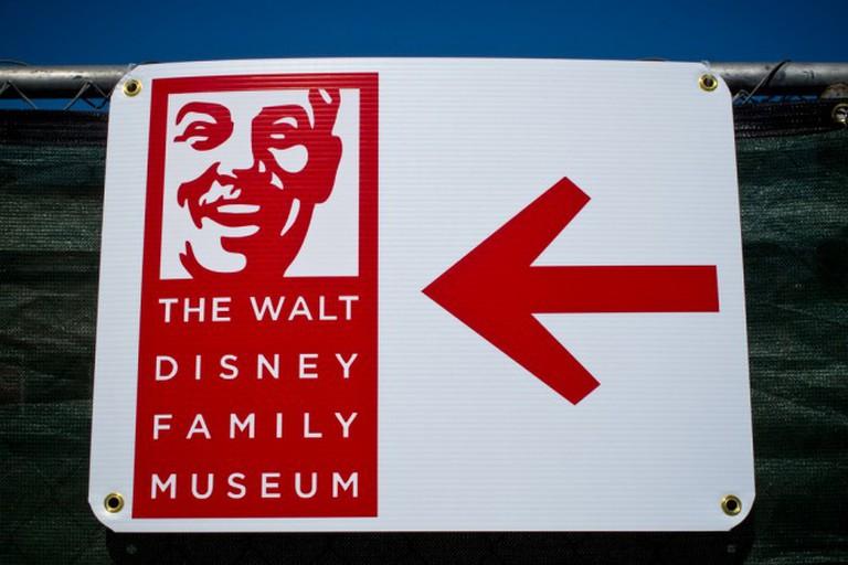 Walt Disney Family Museum Sign