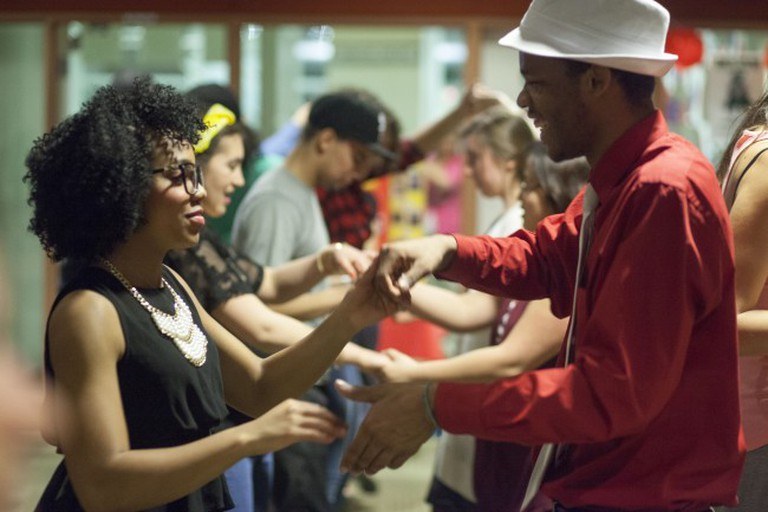 Salsa/Merengue/Bachata Dance at College of DuPage Feb. 2015 26