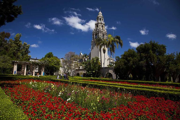 Alcazar Garden and the California Tower