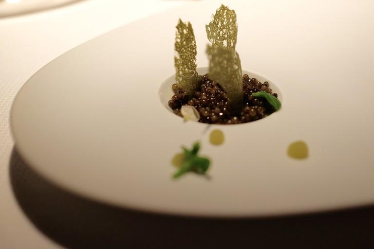 Golden Osetra Caviar, Fennel, Kiwi