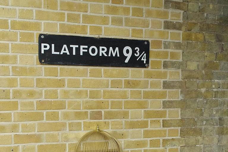 Platform 9 3/4 at King's Cross