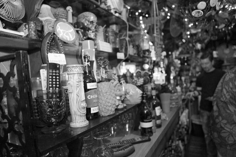 A typical Tiki Bar