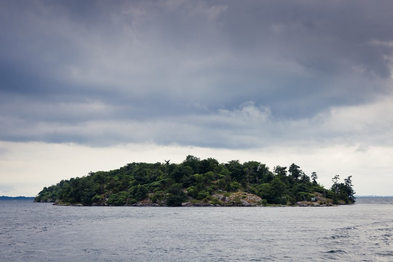 One island from the Thousand Islands National Park