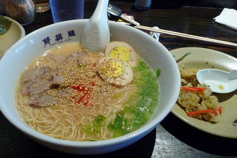 A bowl of ramen at Shin-Sen-Gumi
