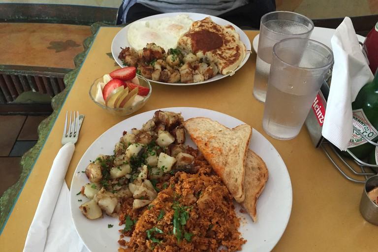 Miami Heat Crepe and Chorizo Scramble