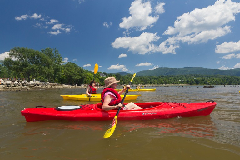 Kayaking from Long Dock Park on the Hudson River