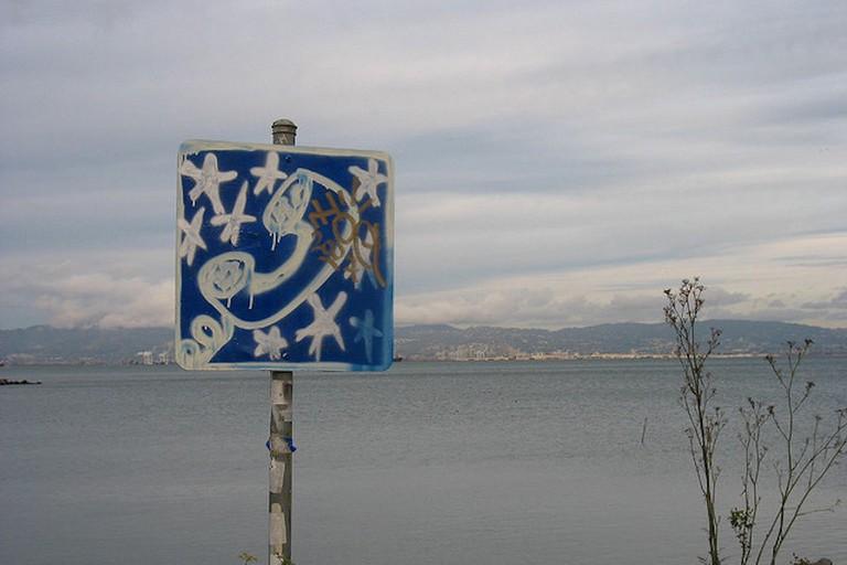 Graffiti art in Warm Water Cove Park