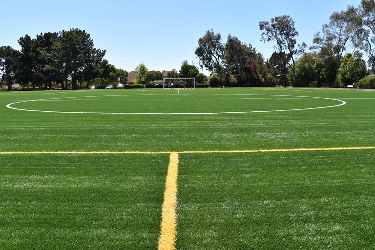 A soccer field at Sea Cloud Park