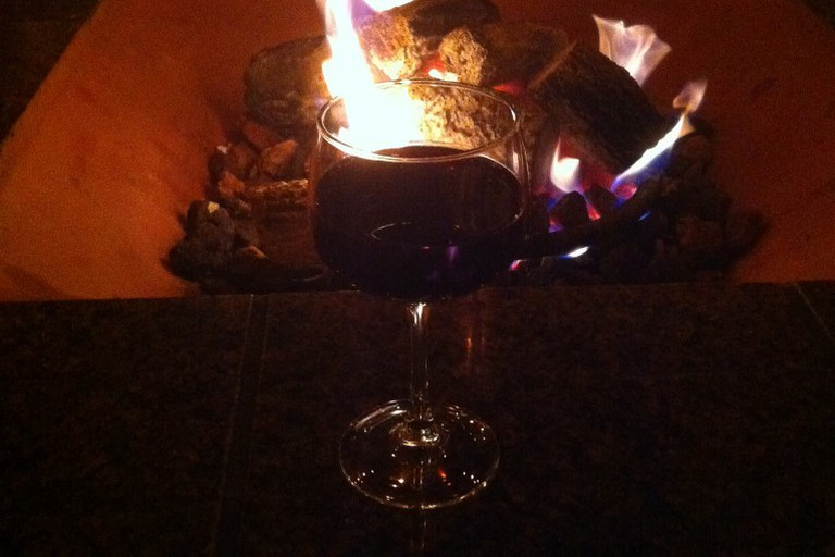 Fire and wine at Miramar Beach Restaurant
