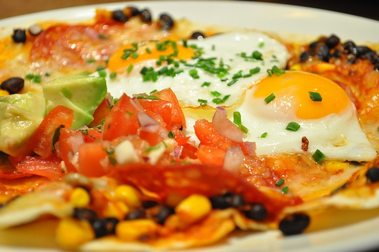 Giraffe review Islington Essex Road huevos rancheros