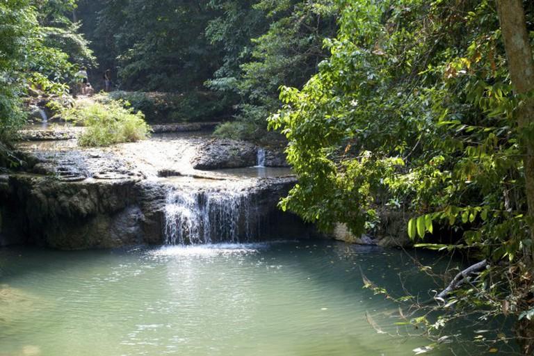 Waterfall At Erawan National Park