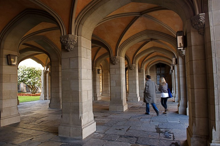 Melbourne University cloisters
