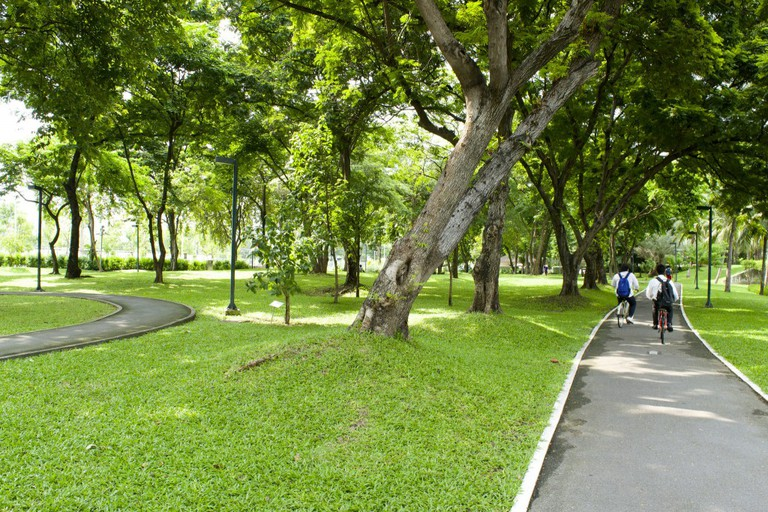 Bike trail at Benjakiti Park