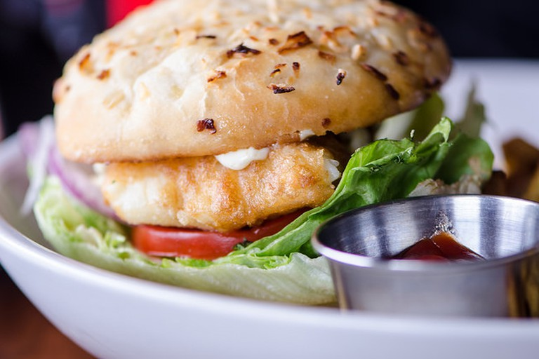 Miami is a fish haven, try the mahi-mahi or the grilled grouper sandwich