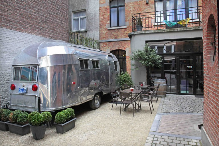Get your glamp on in Brussels' Vintage Hotel and camp in style