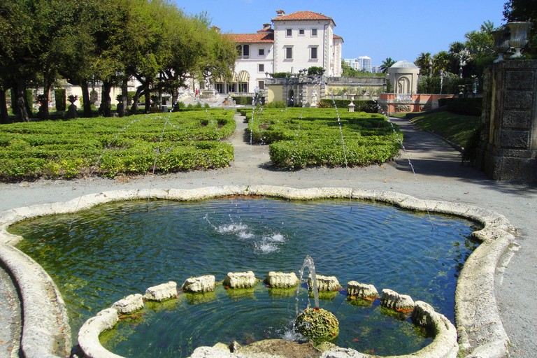 The Italian Style gardens are accentuated by architectural designs such as fountains and antique statues