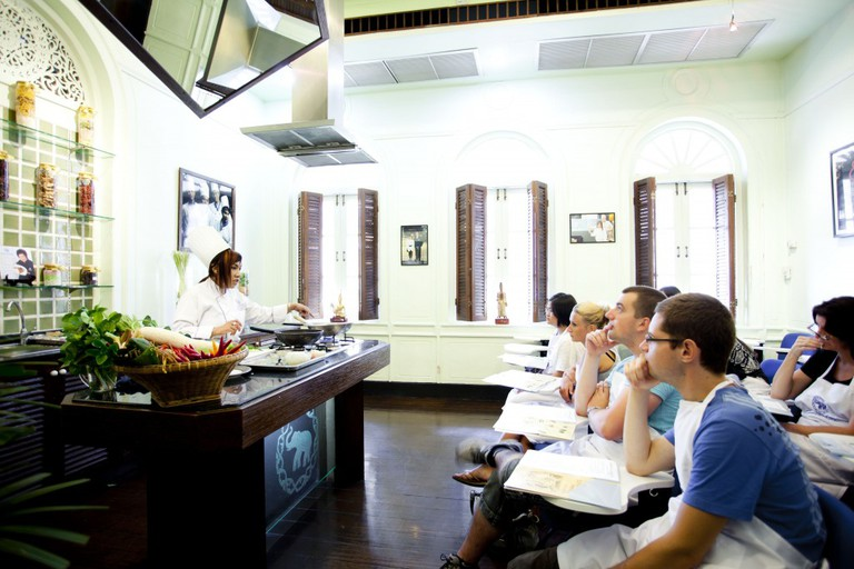 Demonstration During Cooking Class