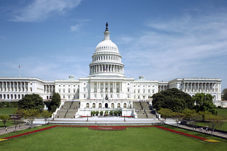 Western front of the United States Capitol in 1997