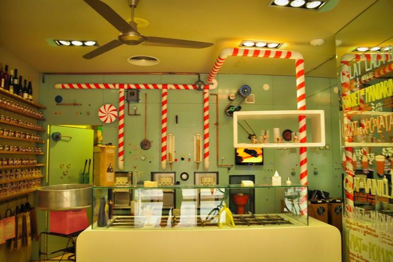 The Rocambolesc ice cream parlour