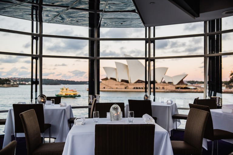 The restaurant also offers breathtaking views of Sydney Harbour