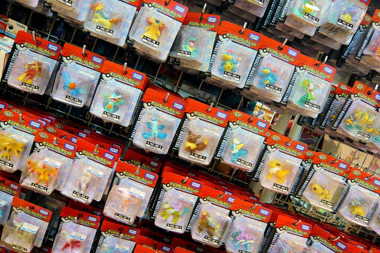 Pokémon toys for sale at Yamashiroya Toy Shop in Ueno