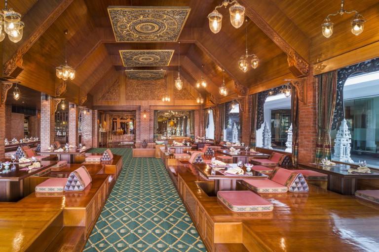 Indoor dining area at Thara Thong