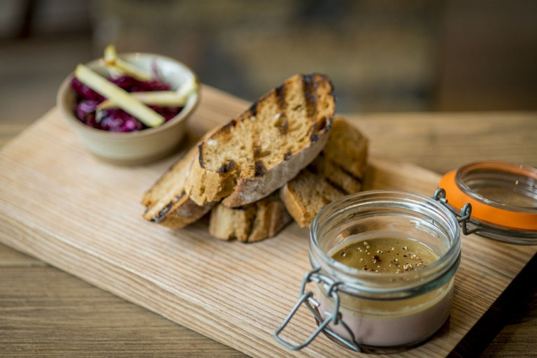 The Scran And Scallie Chicken Liver Parfait Toast