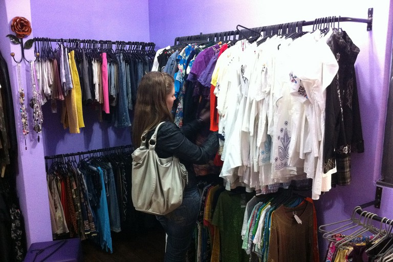 A thrift store with vintage items