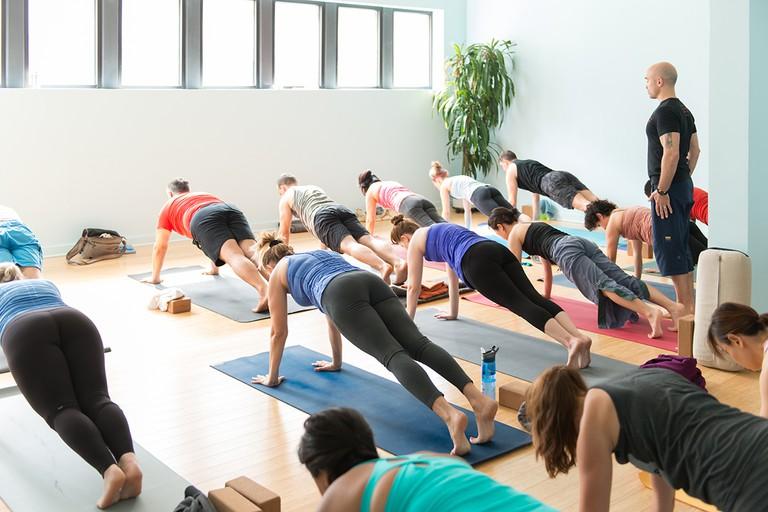 Yoga class at Tejas