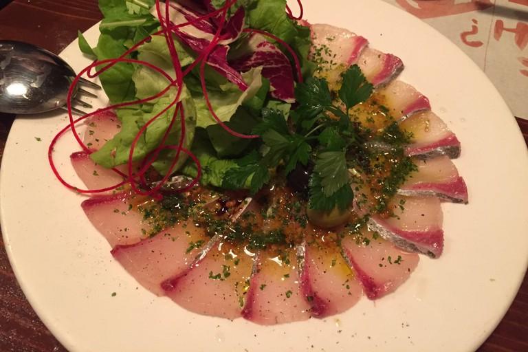 Seasonal sashimi at Kaikaya