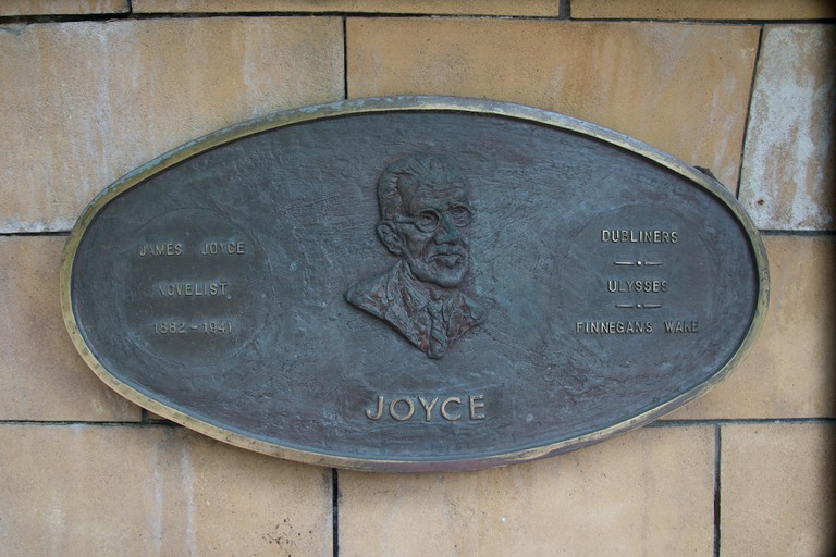 James Joyce memorial, St Patrick's Park Literary Parade