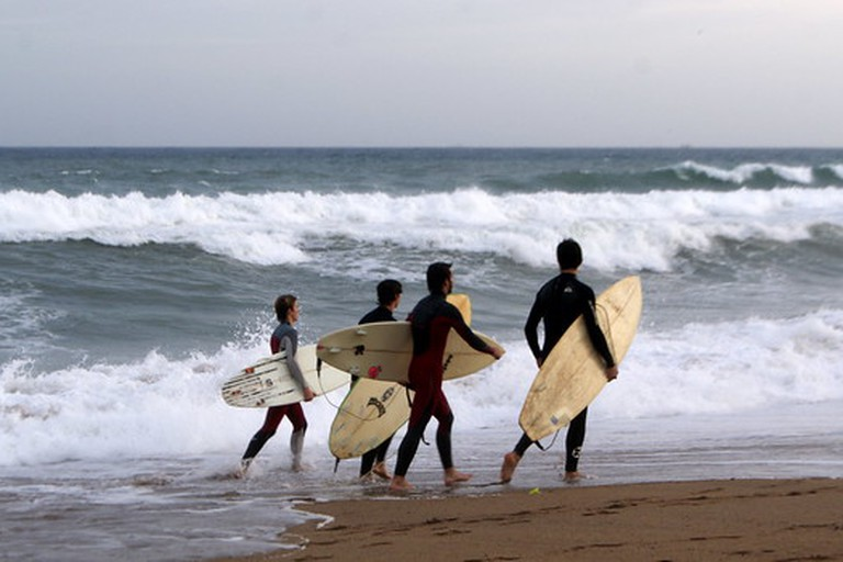 Surfers in La Barceloneta
