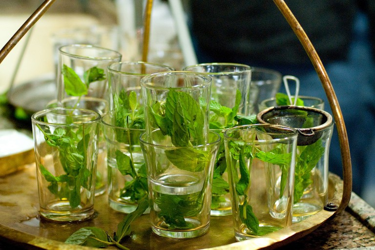 Try homemade mint tea in your favorite riad