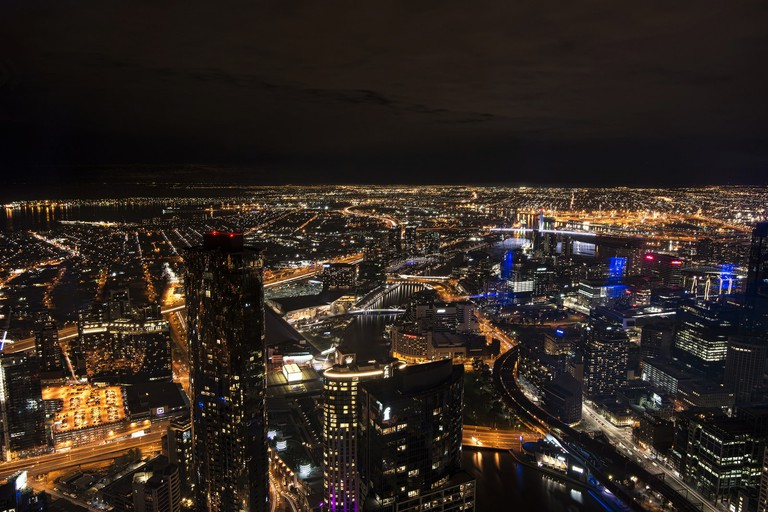 Nighttime views from Eureka Skydeck