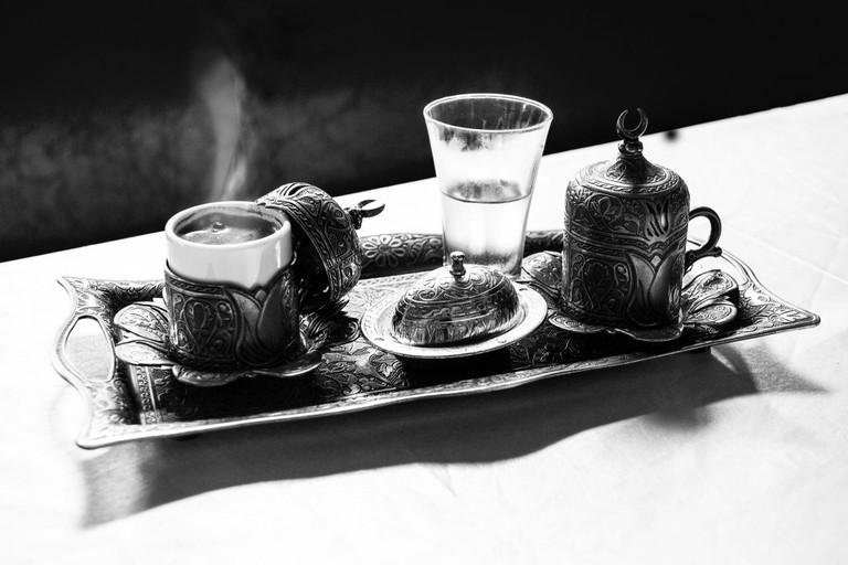 Silver Turkish coffee set