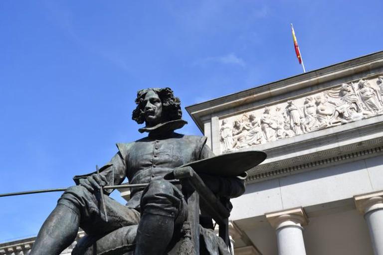 Statue of Velázquez outside Madrid's Prado Museum