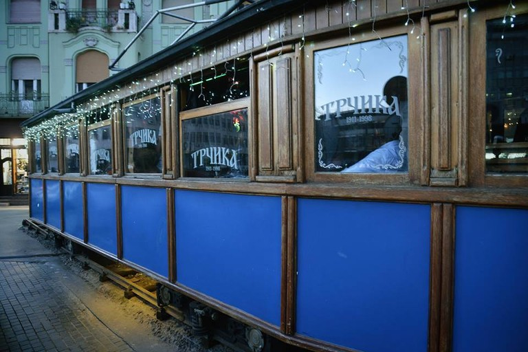 The oldest tram in the city is a fine place for a coffee
