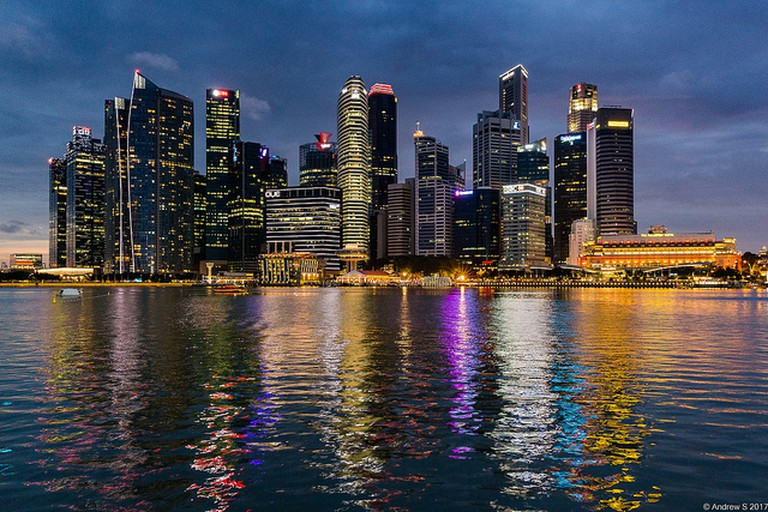 Singapore's Central Business District skyline
