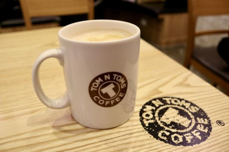 Latte at Tom N Toms