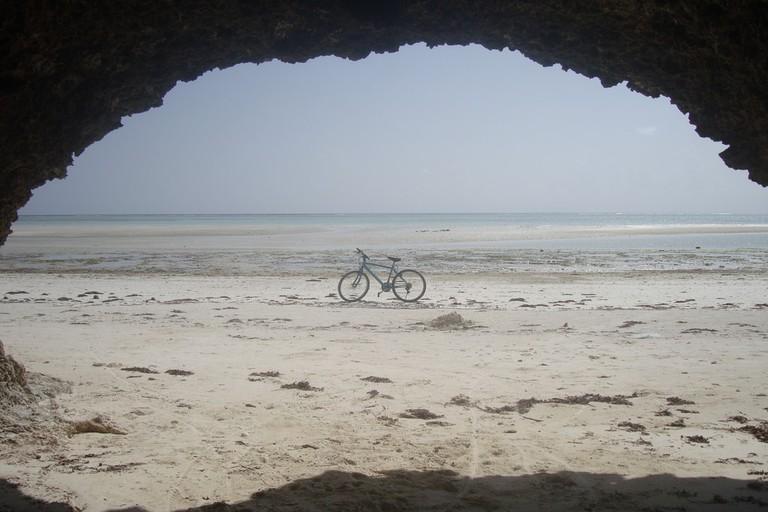 Cave entrance on Zanzibar island