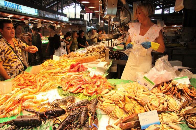 Fresh seafood in Barcelona © Juan Carlos Sánchez