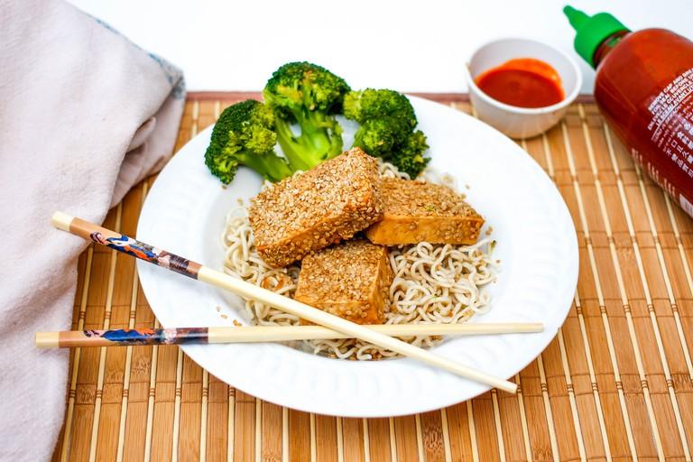 Tofu and ramen