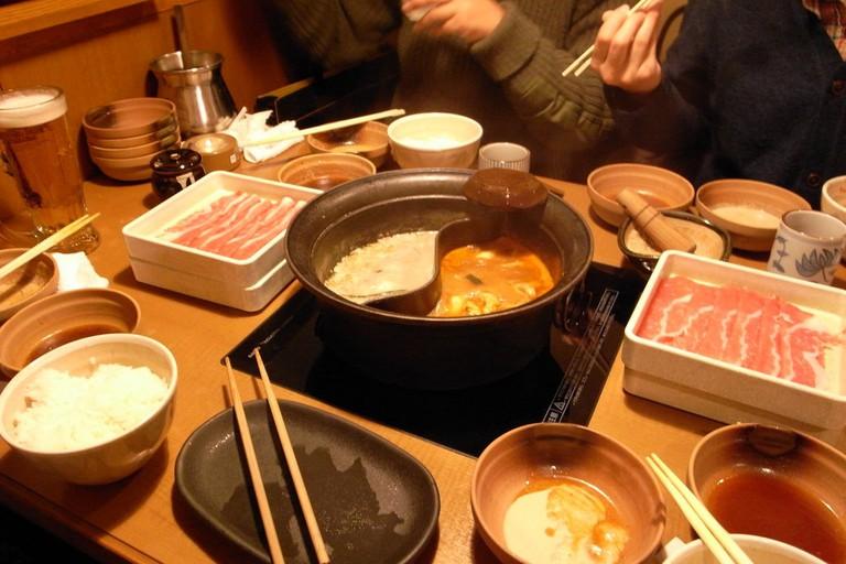 Shabu-shabu at Hot Pepper