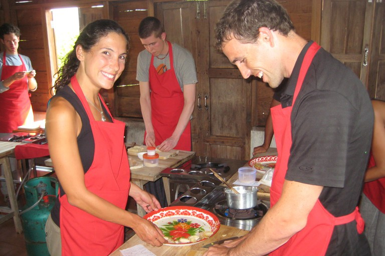 Fun at Thai Farm Cooking School