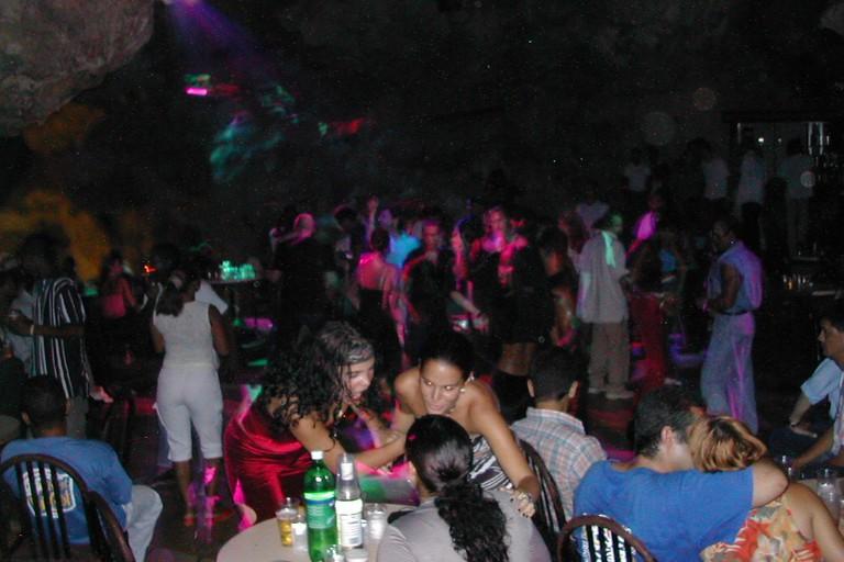 Dancing at Disco Ayala in Trinidad, Cuba